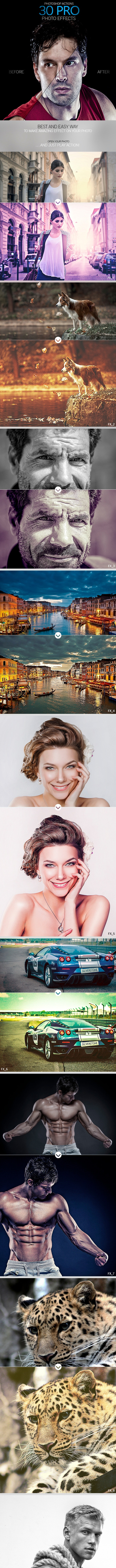 30 Pro Photo Effects - Photo Effects Actions