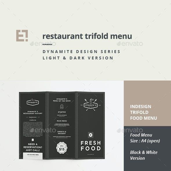 Restaurant Trifold Menu