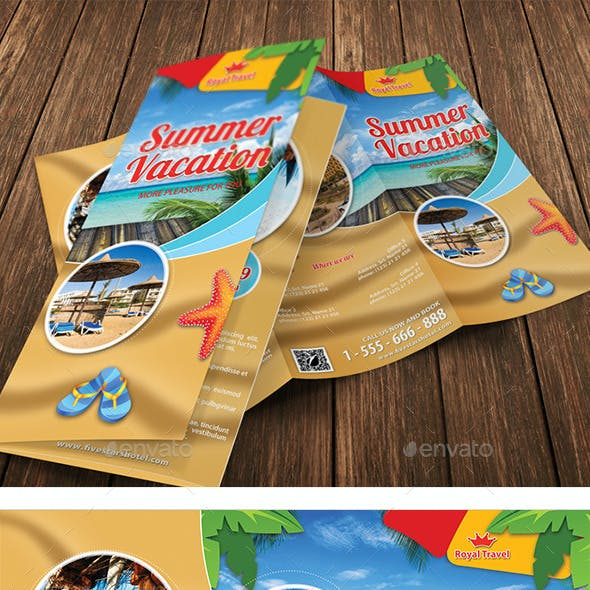 Summer Travel Vacation TriFold Brochure 26