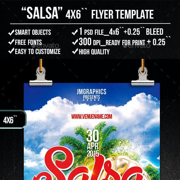 SALSA  Flyer print template
