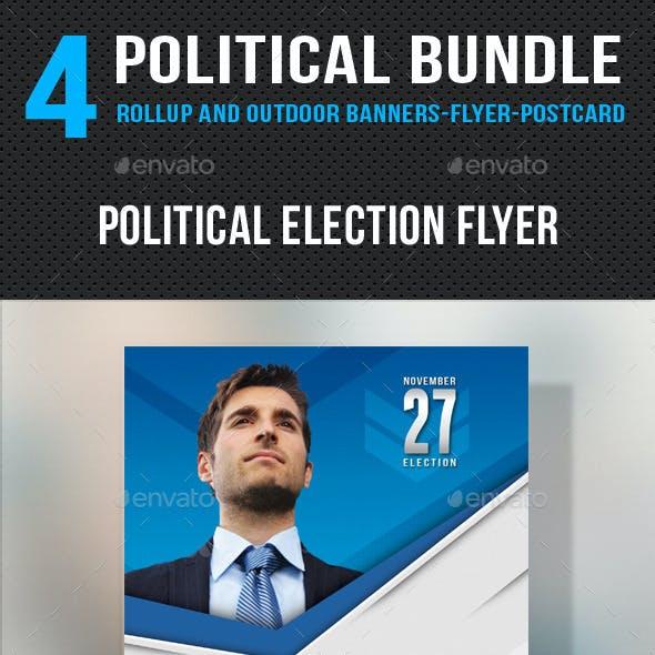 4 in 1 Political Banners Flyer Postcard Bundle V2