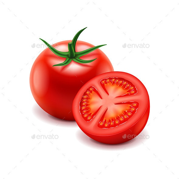Tomato and Slice - Food Objects