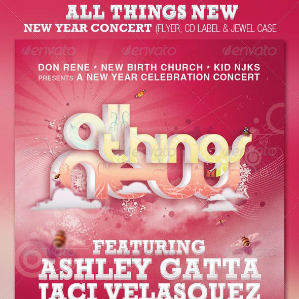 All Things New Church Flyer and CD Template