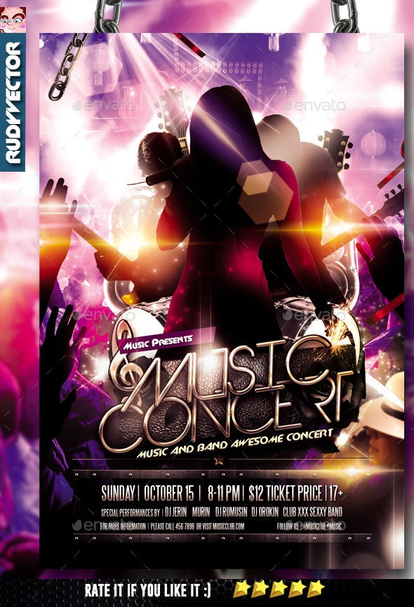 Concert Music Band Flyer - Concerts Events