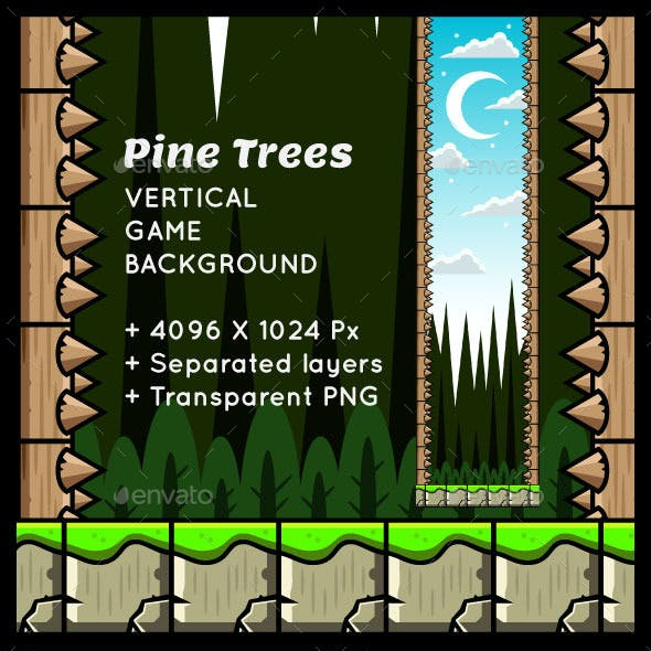 Pine Trees Vertical Game Background