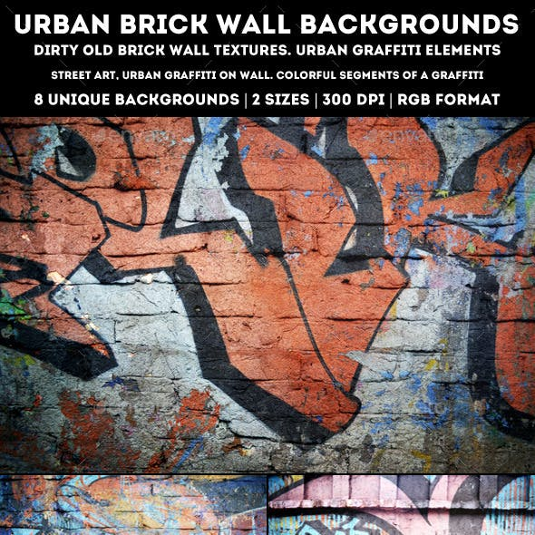 Urban Brick Wall Backgrounds