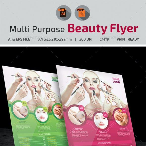 Multi-Purpose Beauty Flyer