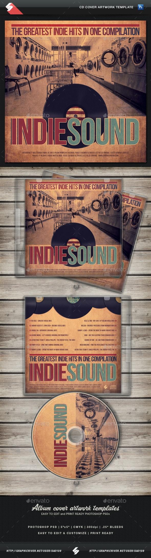 Indie Sound 03 - CD Cover Artwork Template - CD & DVD Artwork Print Templates