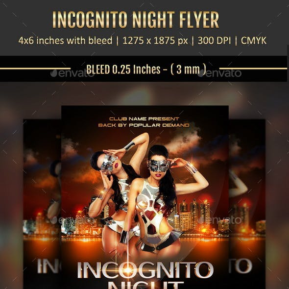 Incognito Night Flyer