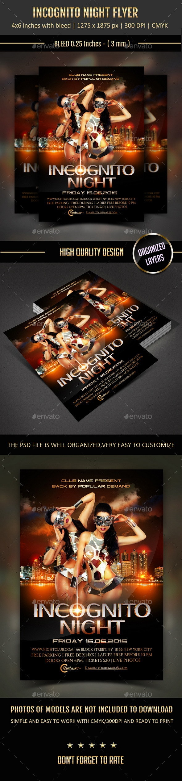 Incognito Night Flyer - Clubs & Parties Events