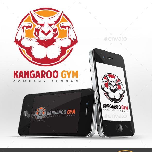 Kangaroo Gym Logo Template