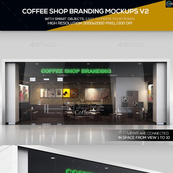 Coffee Shop Branding Mockups V2