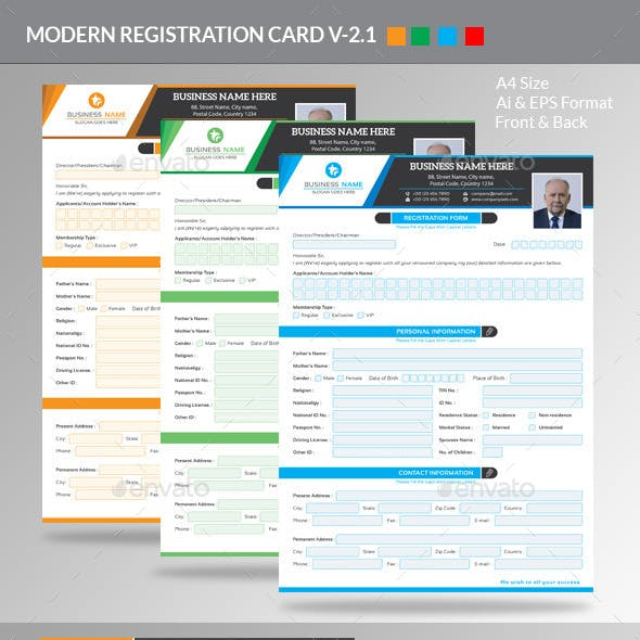 Modern Registration Form V-2.1