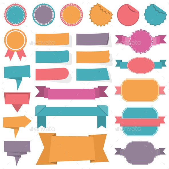 Labels Ribbon Banners