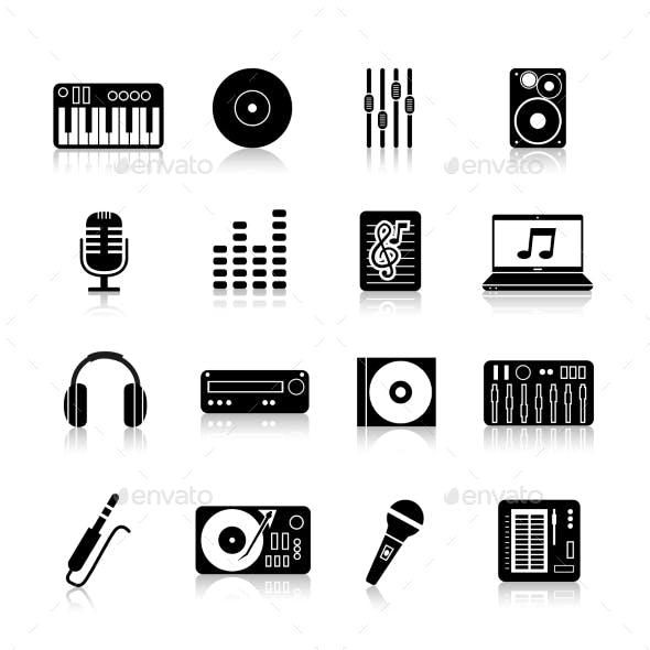 DJ Icons Black Set