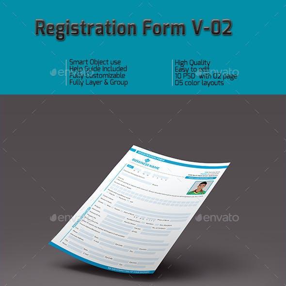 Registration Form V-02
