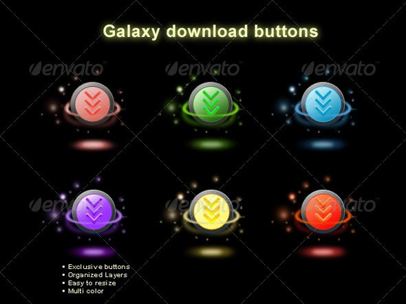 Galaxy Buttons - Buttons Web Elements