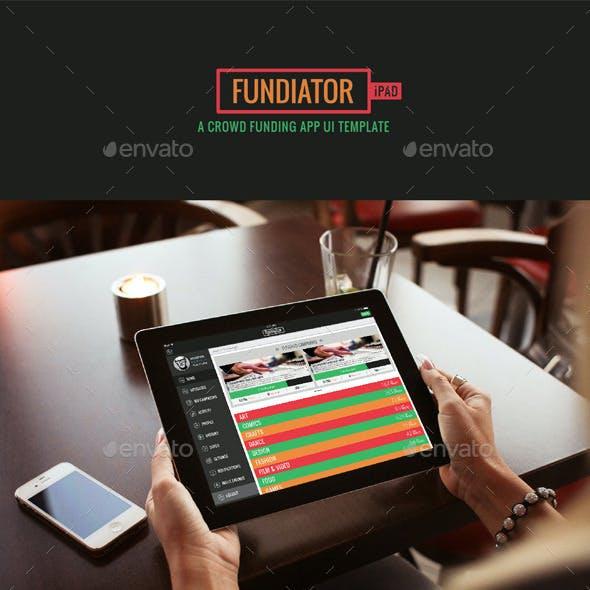Fundiator iPad App UI Kit