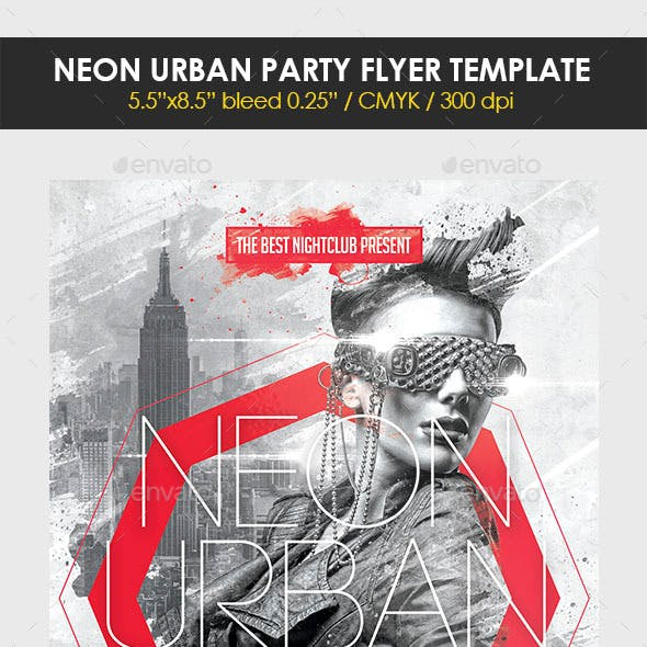 Neon Urban Party Flyer Template