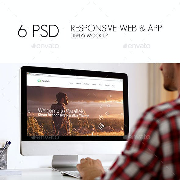 Responsive Web & App Display Mock-Up