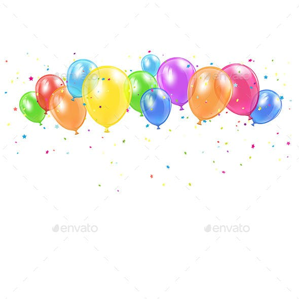 Holiday Balloons and Confetti