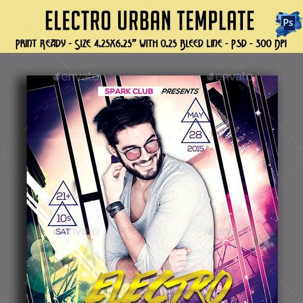 Electro Urban Party Flyer