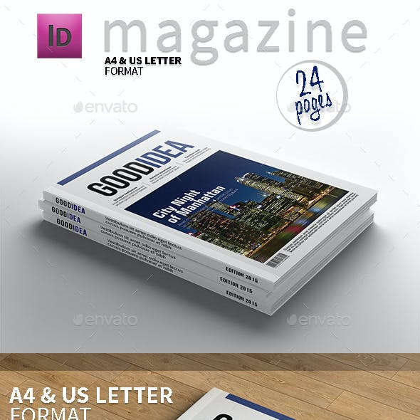 Magazine Template A4 and Letter