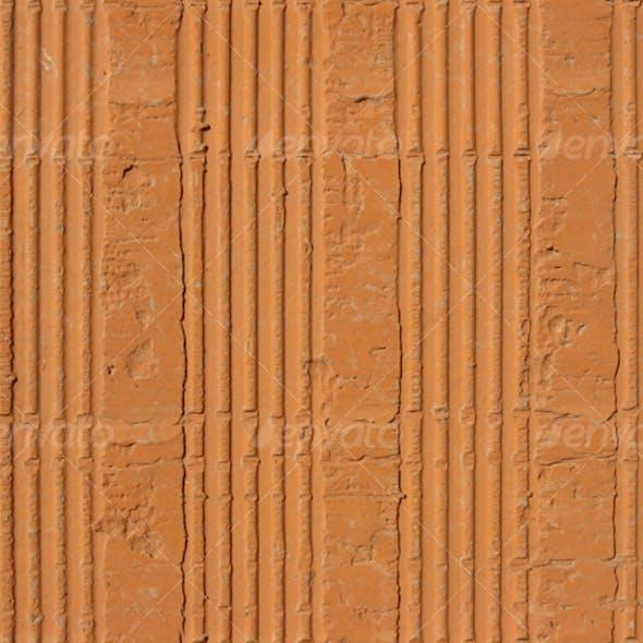 Hollow clay brick pattern seamless