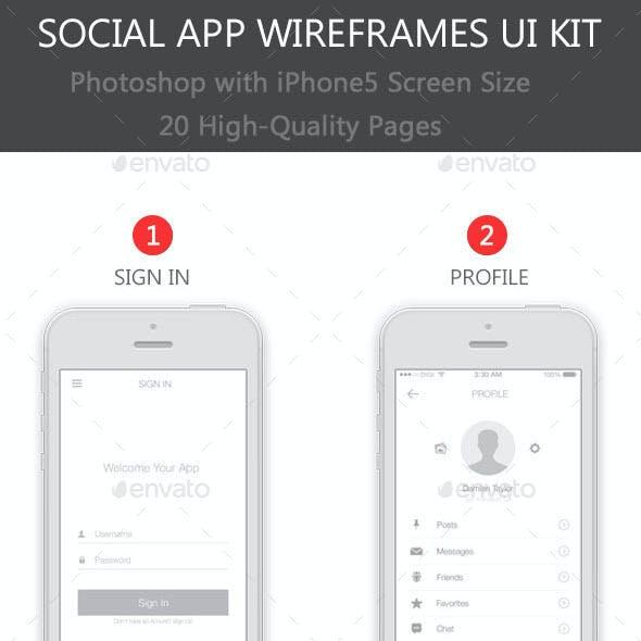 Social App Wireframes UI Kit