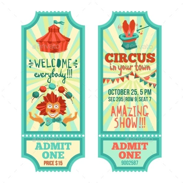 Circus Tickets Set