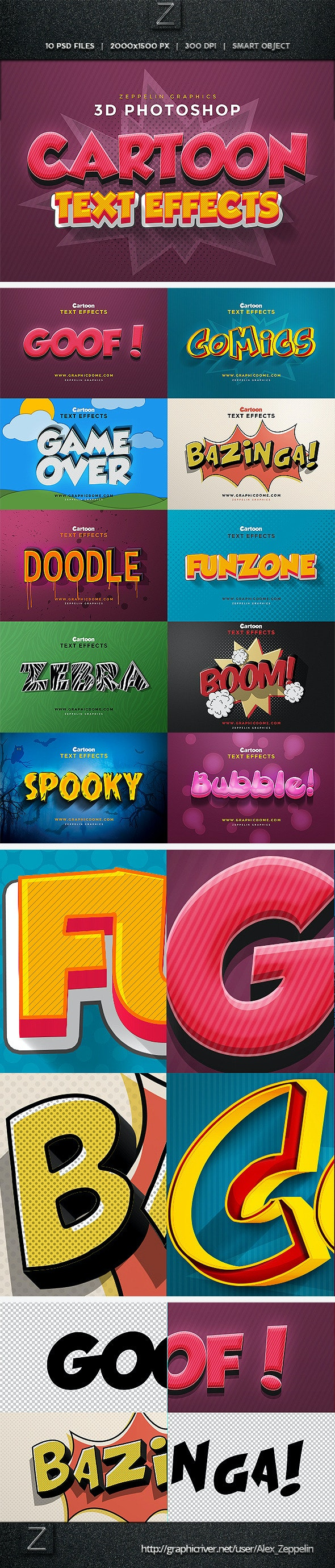 Cartoon Text Effects - Text Effects Styles