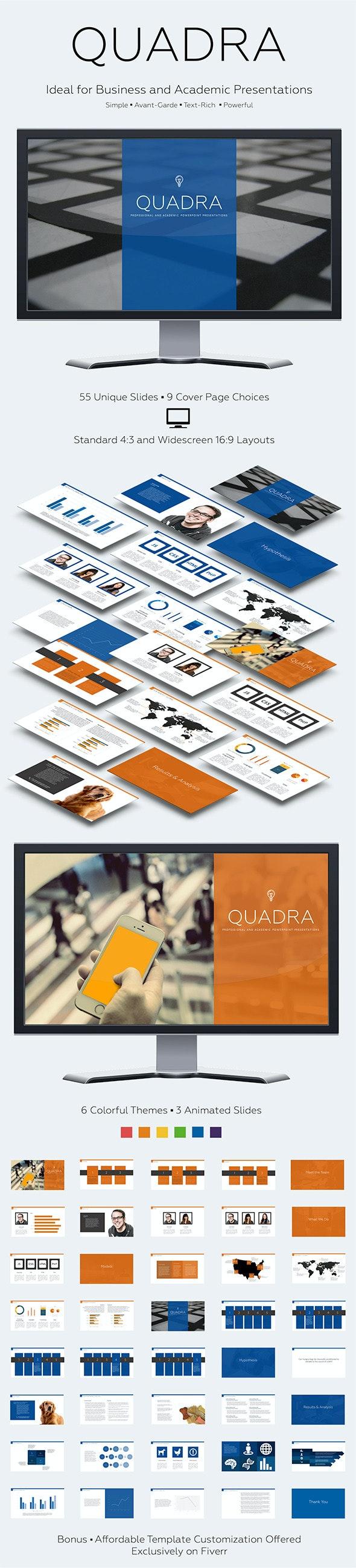 Quadra - PowerPoint Templates Presentation Templates