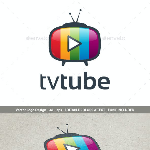 TvTube Logo Design