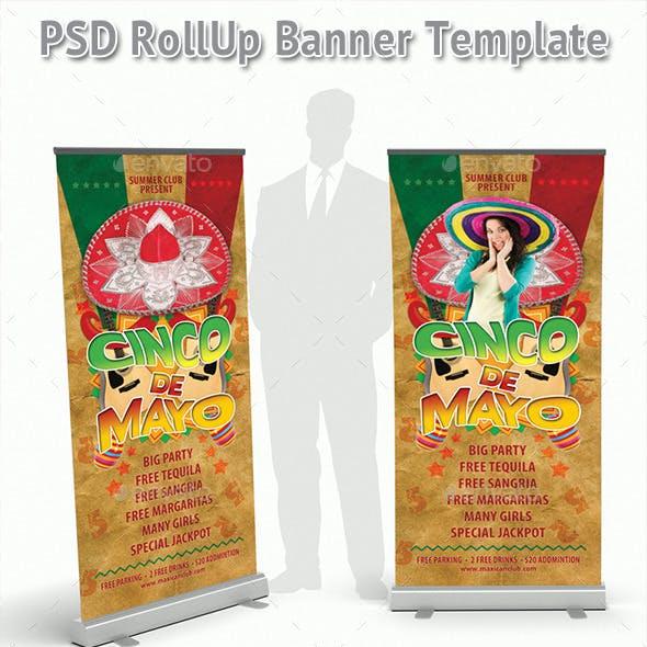 Cinco de Mayo Rollup Banner 48
