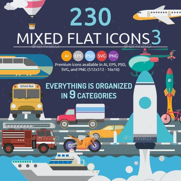 Mixed Flat Icons 3