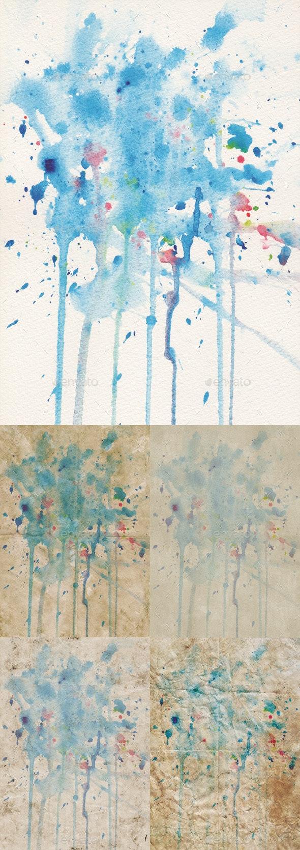 Blue watercolour textures - Art Textures