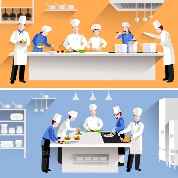 Cooking Process Illustration