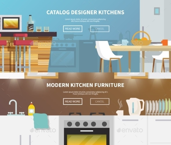 Kitchen Furniture Banner - Miscellaneous Vectors