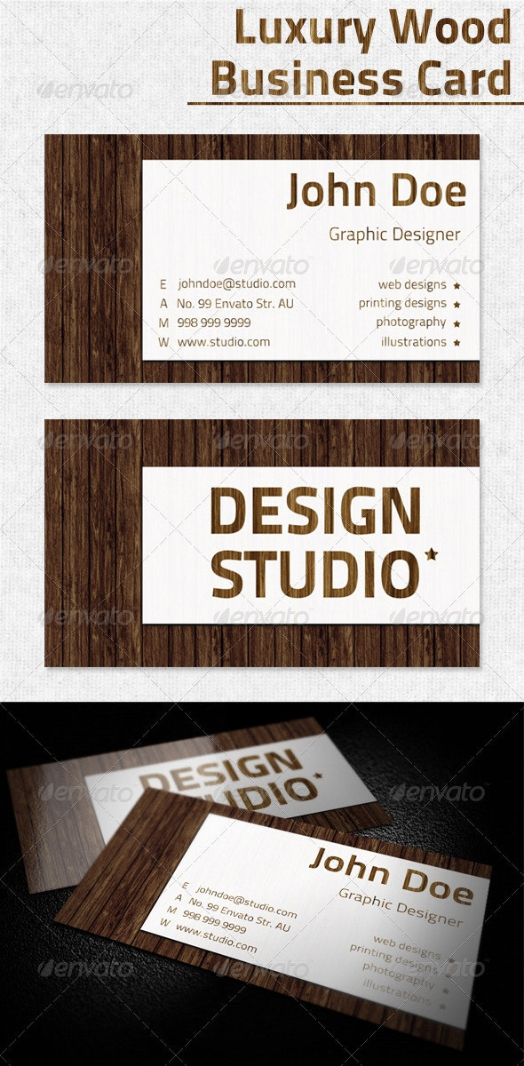 Luxury Wood Business Card - Creative Business Cards
