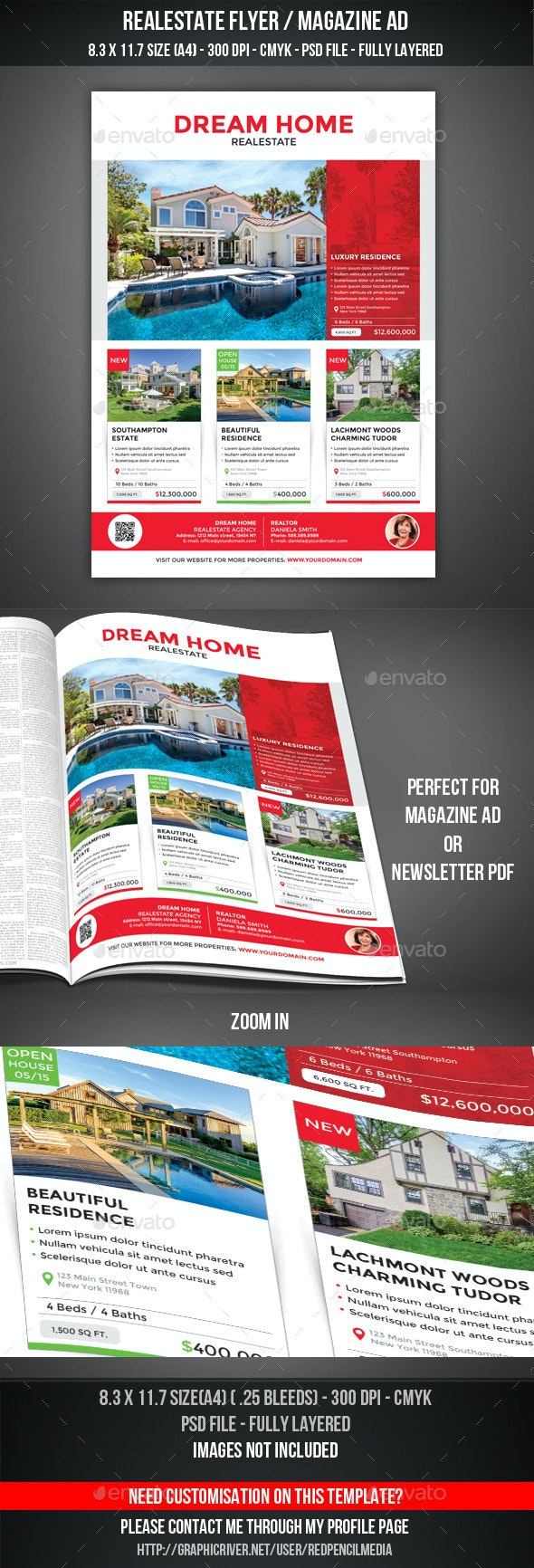 Realestate Flyer / Magazine AD - Commerce Flyers