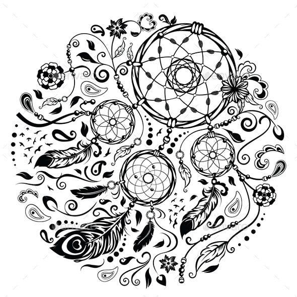 Dreamcatcher Decorative Symbol