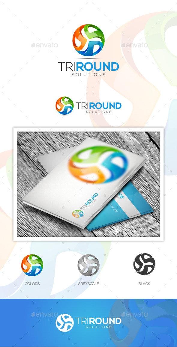 Tri Round logo - Logo Templates