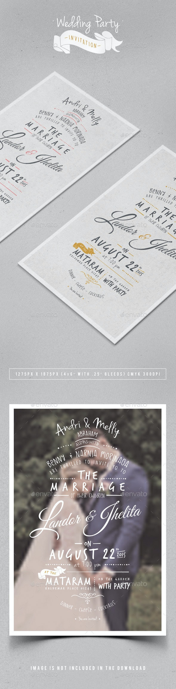 Wedding Party Invitation - Weddings Cards & Invites