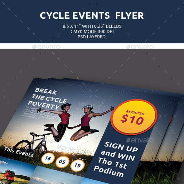 Cycle Events Flyer