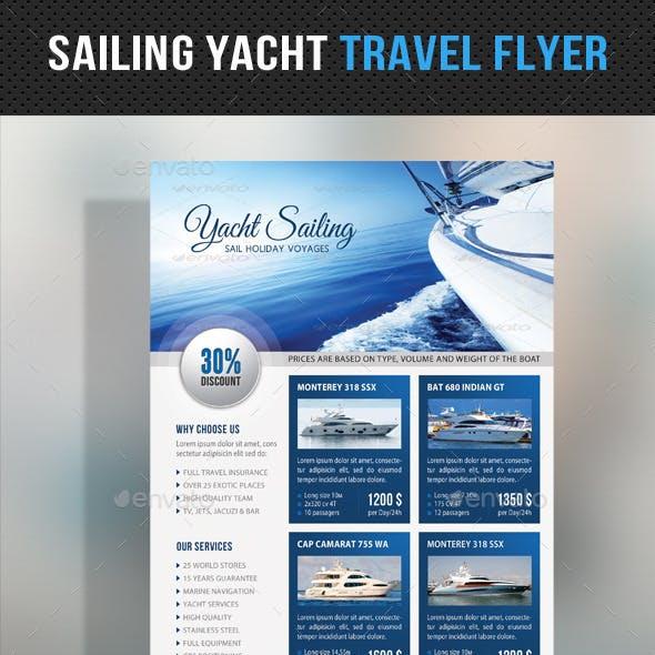 Sailing Yacht Travel Flyer 06