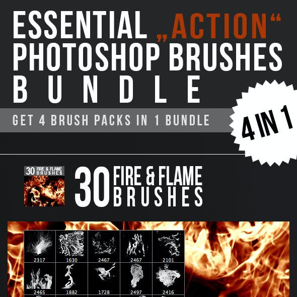 Essential Action Photoshop Brushes Bundle