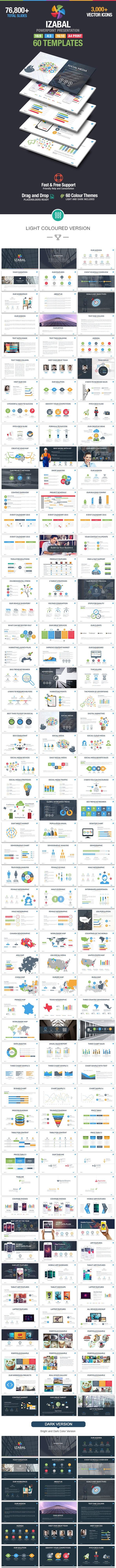 Izabal Multipurpose Powerpoint Template - Business PowerPoint Templates