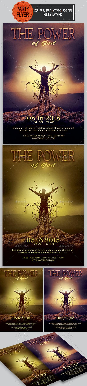 The Power Of God Flyer - Church Flyers