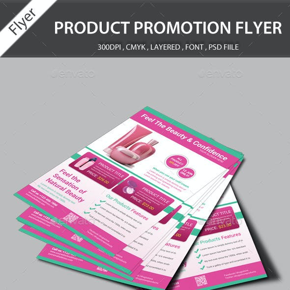 Beauty Products Promotion Flyer