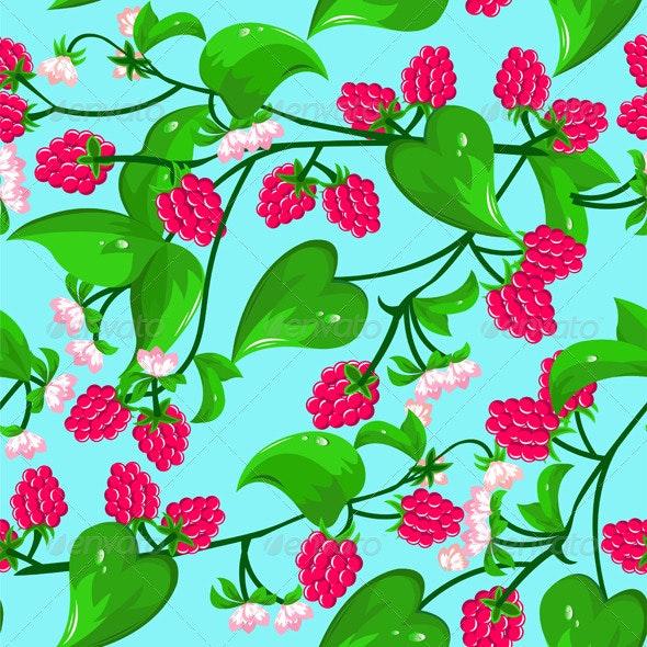 Raspberry Seamless  - Patterns Decorative
